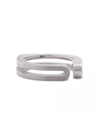 Side Fold Ring - White Gold