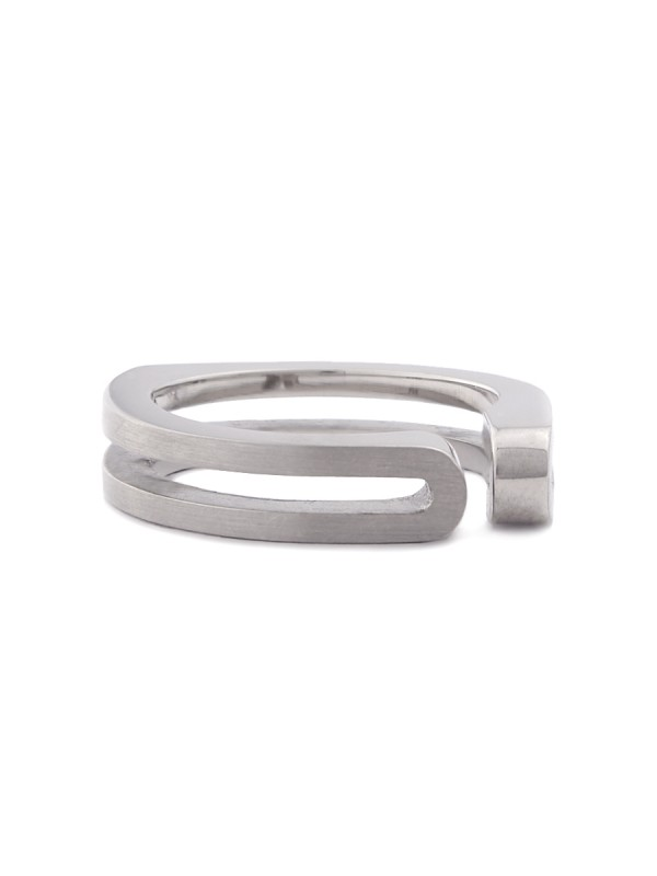 Side Fold Ring – White Gold