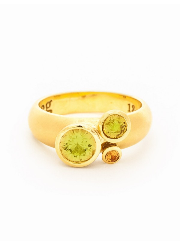 Clover Ring – Yellow Sapphires