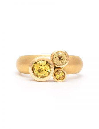 Clover Ring - Yellow Sapphires