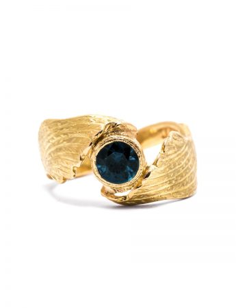 Blue Angel Ring - Gold & Sapphire