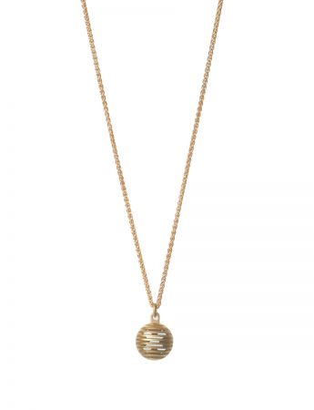 Gold Secret Orb Pendant Necklace - Kiss