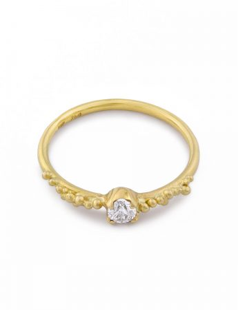 Claw Set Granulation Ring – Diamond