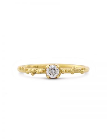 Claw Set Granulation Ring - Diamond