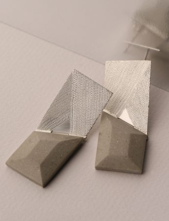 'Concrete' Hinged Earrings