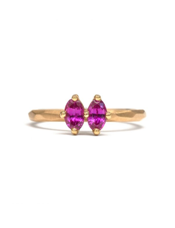 Double Pink Sapphire Ring