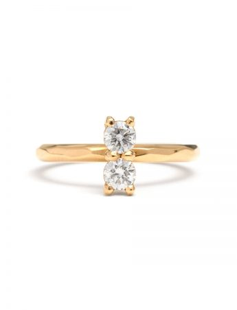 Double White Diamond Ring