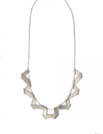 Folding Necklace – Silver