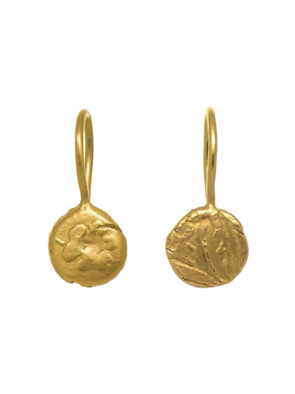 Gold Fragment Hook Earrings