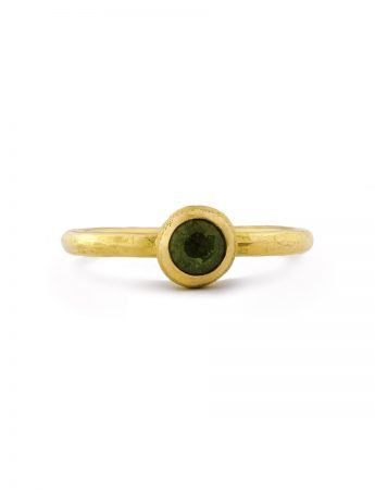 Frosted Orb Ring - Green Sapphire