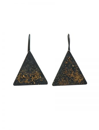 Galaxy Triangle Hook Earrings