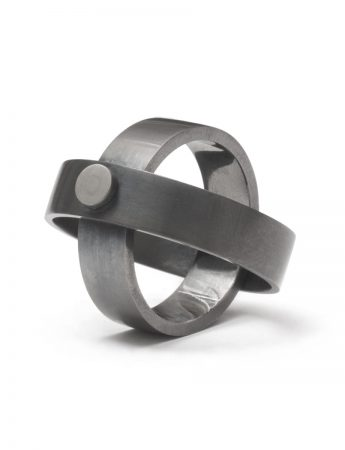 Infinity Wide Ring - Black
