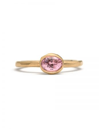 Oval Pink Sapphire Ring