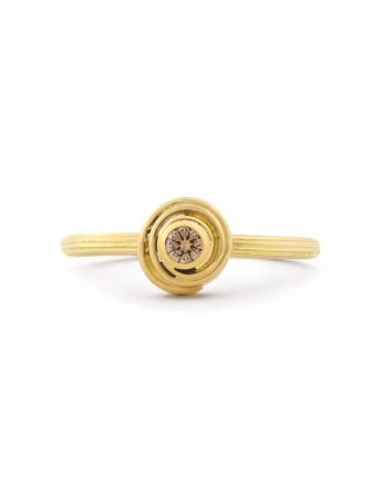 Rosette Ring - Cognac Diamond