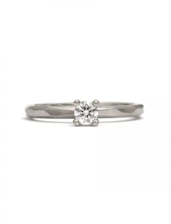 Round Diamond Ring - White Gold