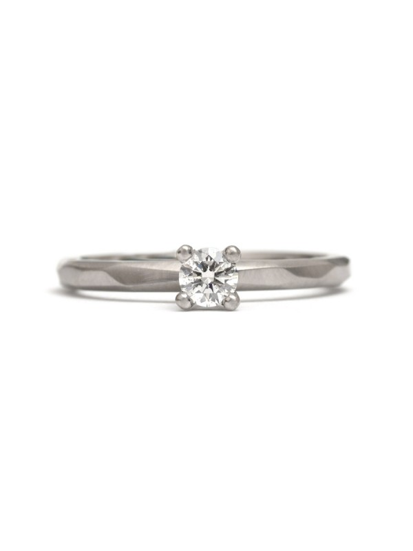 Round Diamond Ring – White Gold