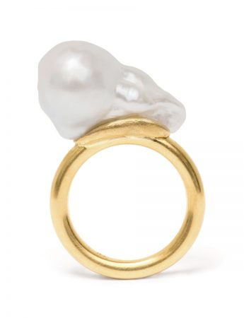 Baroque Pearl Ring #1
