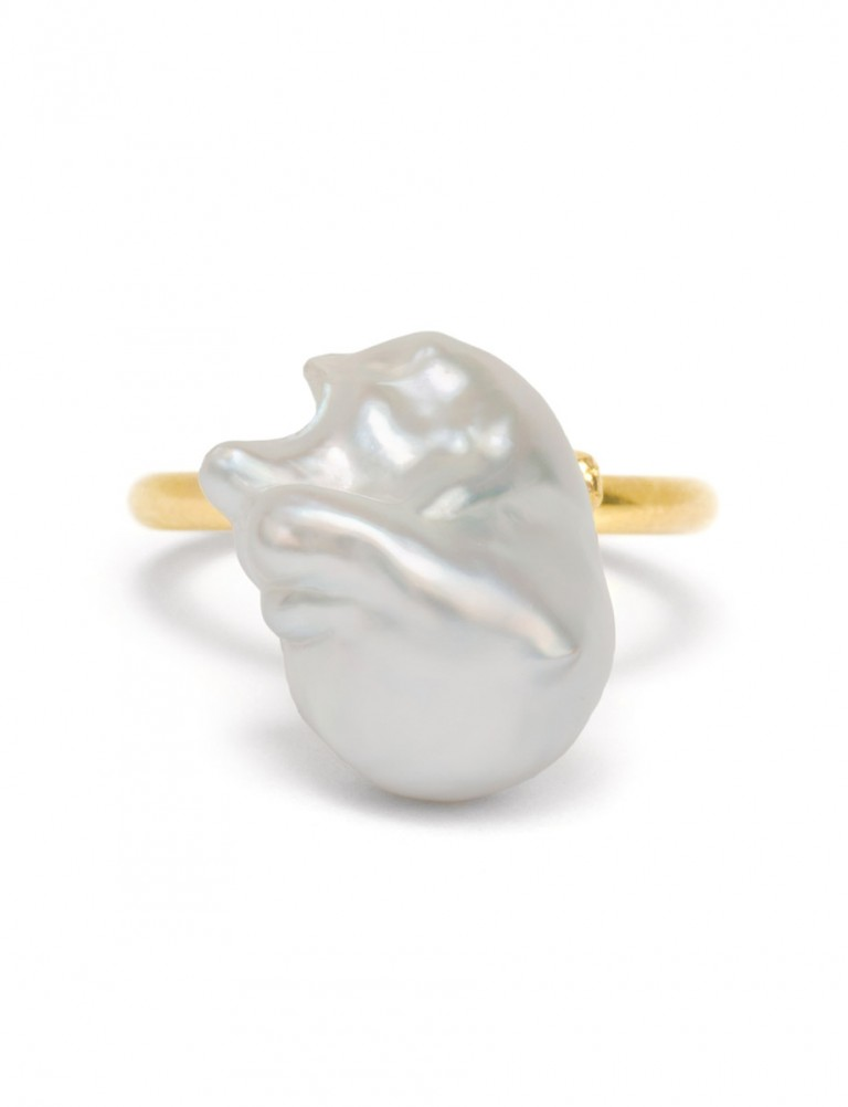 Baroque Pearl Ring #3