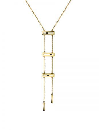 Black Diamond Slide Ladder Necklace