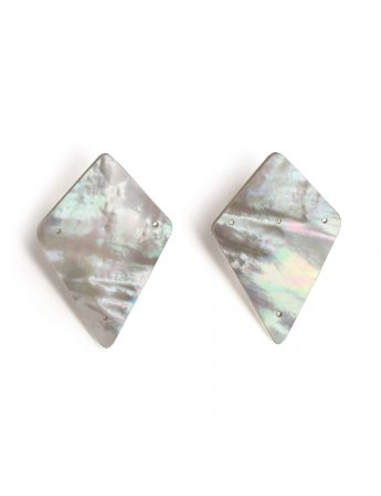 Carved Kite Earrings - Mother Of Pearl