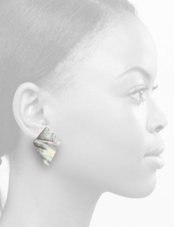 Carved Kite Earrings – Mother Of Pearl
