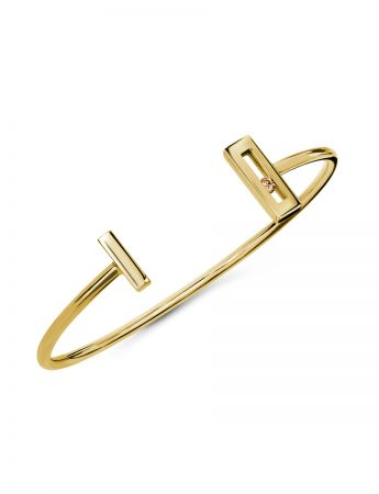 Champagne Diamond Slide Open Cuff