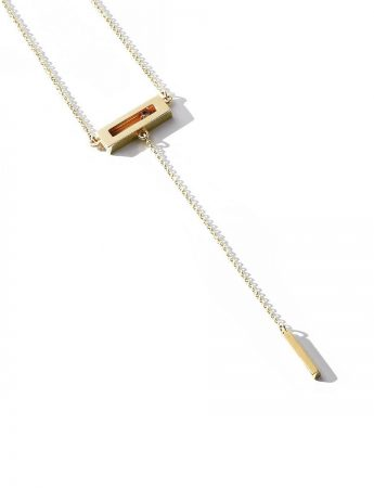 Champagne Diamond Slide Drop Necklace