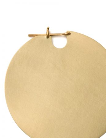 Large U Disc Earrings - Gold