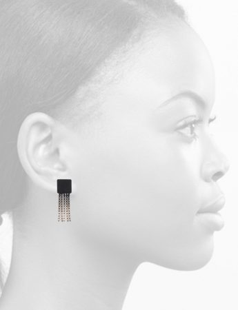 Short Shikaku Square Chain Earrings – Gradient