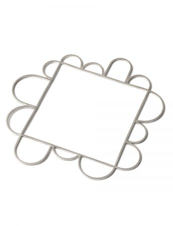 Silver Wire Square Bangle - Thirteen Arches