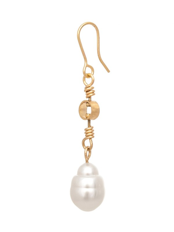 Swivel Drop South Sea Pearl Earrings – Gold