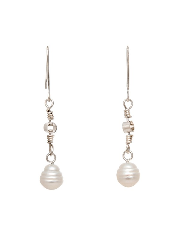Swivel Drop South Sea Pearl Earrings – Silver