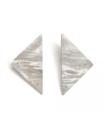 Triangle Carved Mother Of Pearl Earrings