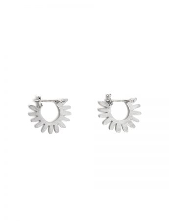 Small Whirlpool Hoop Earrings - Silver