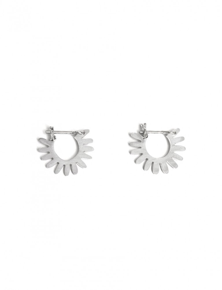Small Whirlpool Hoop Earrings – Silver