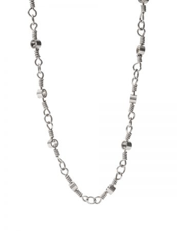 Long Swivel Chain Necklace - Silver