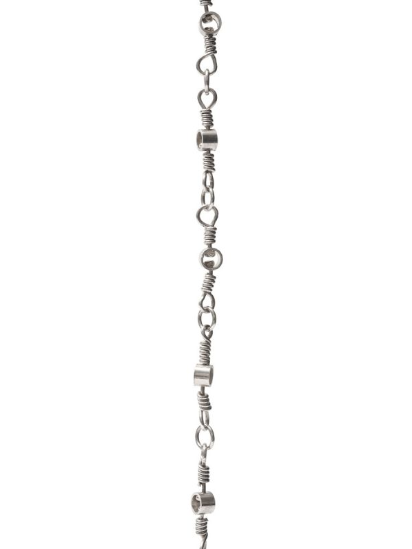 Long Swivel Chain Necklace – Silver