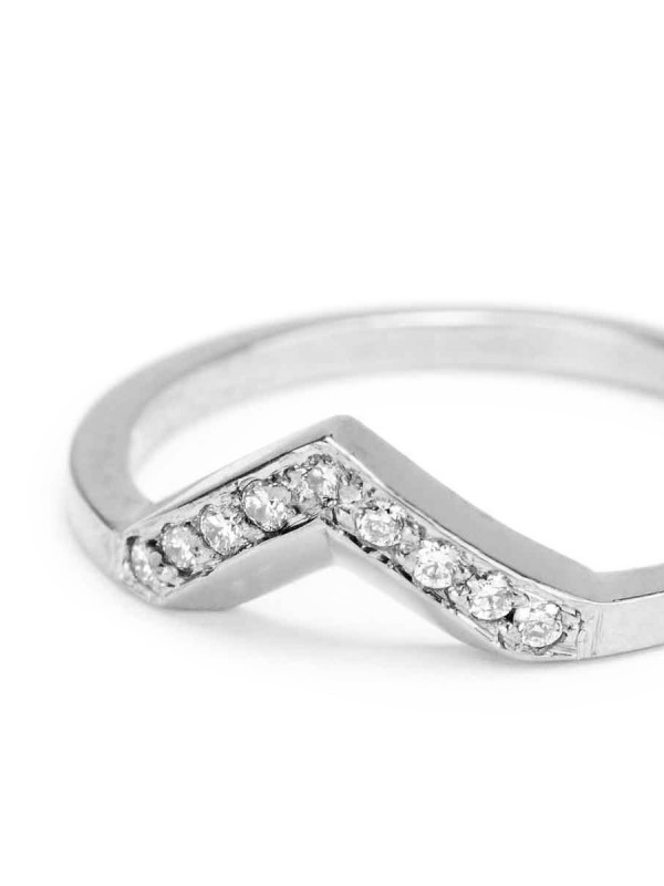 Angle Ring – White Gold & Diamonds