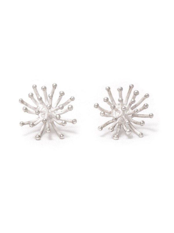 Blossom Stud Earrings – Silver