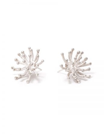 Blossom Stud Earrings - Silver