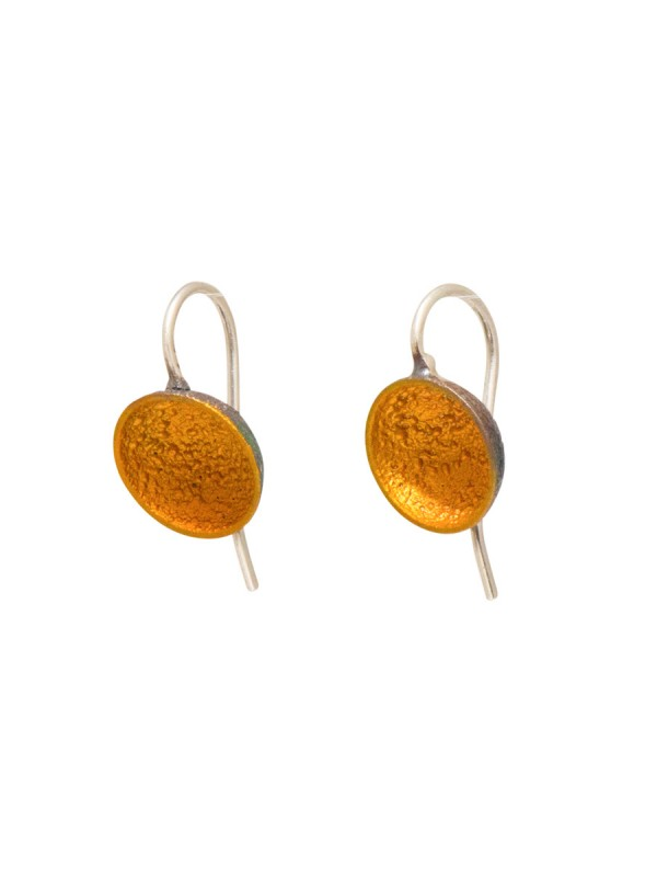 Small Dome Hook Earrings – Yellow