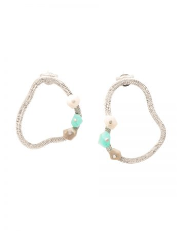 Rockpool Earrings - Aqua & Grey