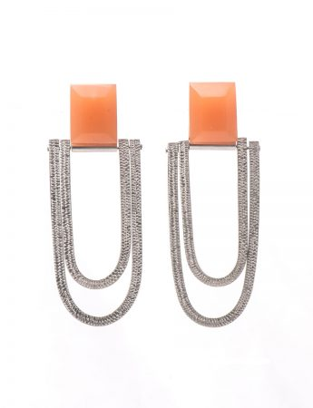 Oval Drop Earrings - Mandarin