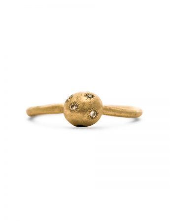Neru Ball Ring - Gold & Diamonds
