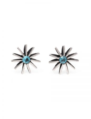 Large Radiant Star Earrings - Topaz