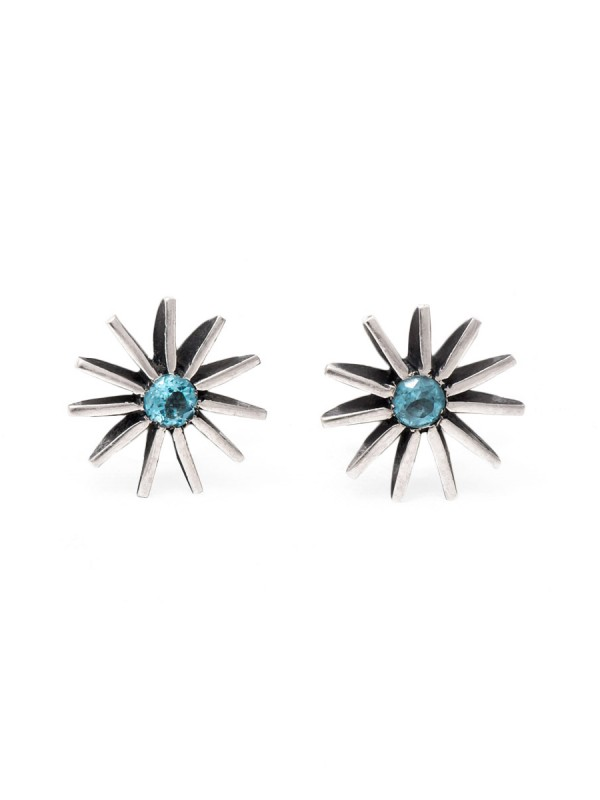 Radiant Star Topaz Earrings