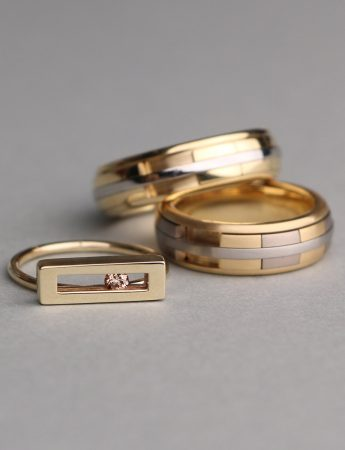 Champagne Diamond Slide Ring