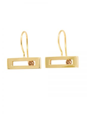 Champagne Diamond Slide Earrings