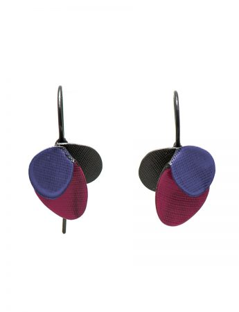 Violet Hook Earrings - Pink & Blue