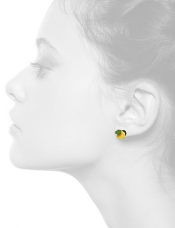 Violet Stud Earrings – Yellow & Green